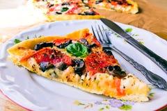 Pizza de la rebanada Fotos de archivo libres de regalías