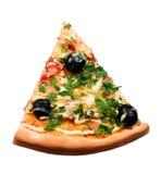 Pizza de la rebanada Imagen de archivo