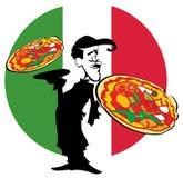 Pizza de la SERIE del TRABAJO  ilustración del vector
