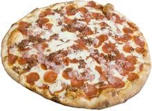Pizza de los amantes de la carne Fotografía de archivo libre de regalías