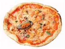 Pizza de los mariscos Foto de archivo libre de regalías