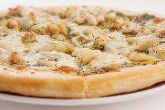 Pizza de los mariscos Foto de archivo