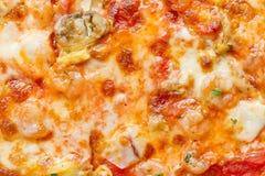 Pizza de los mariscos Fotografía de archivo libre de regalías