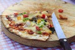 Pizza de los mariscos en el vector. imágenes de archivo libres de regalías