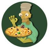 Pizza de los zombis Fotos de archivo