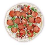 Pizza de lujo - congelada Imagen de archivo libre de regalías