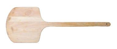 Pizza de madera de la espátula Imagen de archivo libre de regalías