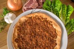 Pizza de Manakish fotos de archivo libres de regalías