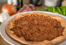 Pizza de Manakish imagenes de archivo