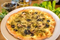 Pizza de Manakish del vegetariano foto de archivo libre de regalías