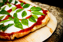 Pizza de Margherita Foto de Stock