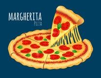 Pizza de Margherita Images stock