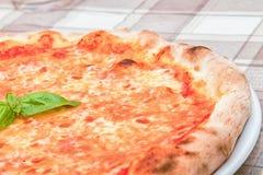 Pizza de Margherita com manjericão Fotografia de Stock Royalty Free
