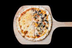 Pizza de Napole y pizza de queso Fotografía de archivo
