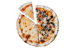 Pizza de Napole y pizza de queso Foto de archivo