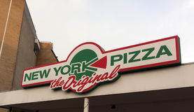 Pizza de New York imagem de stock