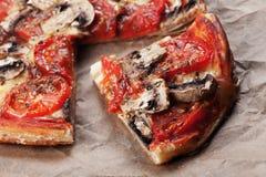 Pizza de pâte feuilletée Images stock