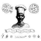 Pizza de papa Photos libres de droits