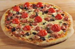 Pizza de Pepperoni Fotografia de Stock
