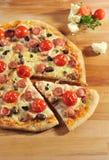 Pizza de Pepperoni Foto de Stock