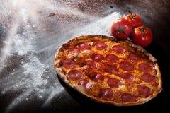 pizza de pepperoni Images libres de droits