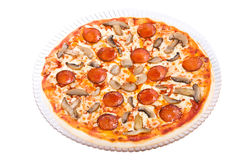 Pizza de Pepperoni Imagens de Stock