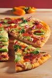 Pizza de Pepperoni imagem de stock royalty free
