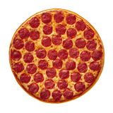 Pizza de pepperoni entière Photographie stock libre de droits