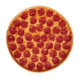 Pizza de Pepperoni inteira Fotografia de Stock Royalty Free