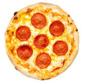 Pizza de pepperoni images libres de droits