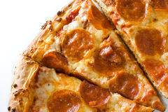 Pizza de pepperoni quente Fotografia de Stock