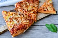Pizza de poulet image libre de droits