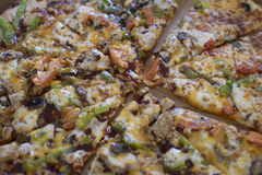 Pizza de poulet de barbecue Photos libres de droits
