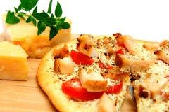 pizza de poulet de fromage d'Asiago Photos stock