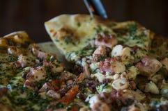 Pizza de pulpo Royalty Free Stock Photography