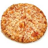 Pizza de queijo no fundo branco Fotografia de Stock Royalty Free
