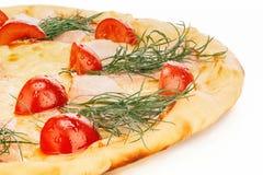 Pizza de queso con los tomates Fotografía de archivo libre de regalías
