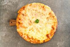 Pizza de queso cuatro imagenes de archivo