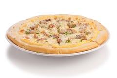 Pizza de rôti de porc Image libre de droits