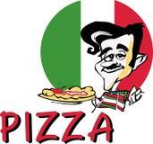 Pizza de SÉRIE du TRAVAIL   Images stock