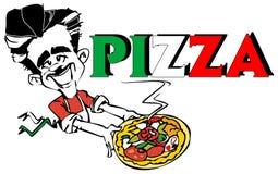 Pizza de SÉRIE du TRAVAIL   Photographie stock