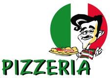 Pizza de SÉRIE du TRAVAIL   Image libre de droits