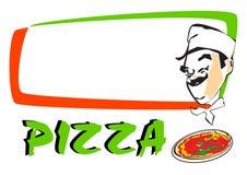 Pizza de SÉRIE du TRAVAIL   Photographie stock libre de droits