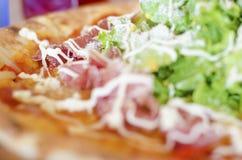 Pizza de salade Photo stock