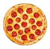 Pizza de salchichones Imagenes de archivo