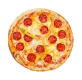 Pizza de salchichones caliente fotos de archivo