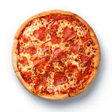 Pizza de salchichones cortada forma del corazón foto de archivo libre de regalías