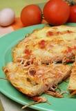 Pizza de spaghetti Images stock
