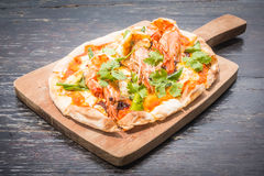 Pizza de Tom yum fotografia de stock royalty free