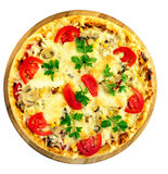 Pizza de tomate Photographie stock